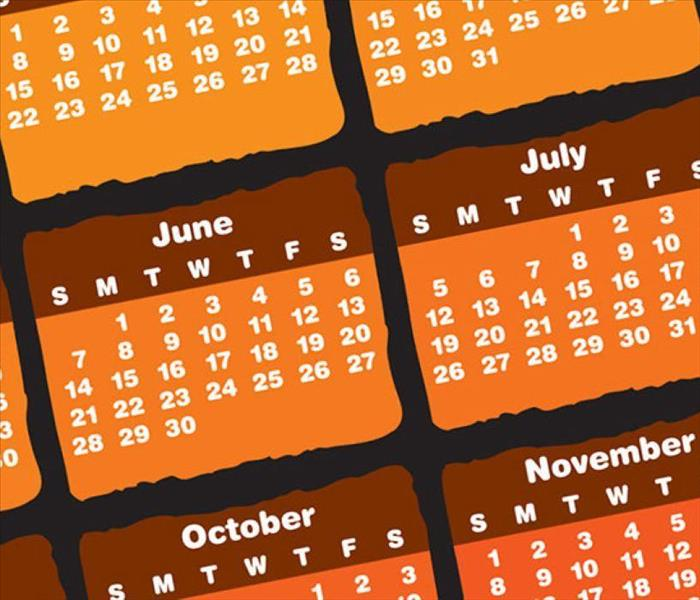 Picture of an orange calendar