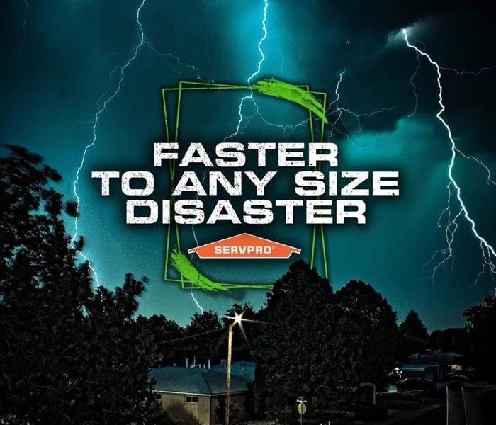 "Picture of SERVPRO ""Faster to any size Disaster"" slogan"